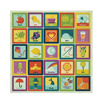 We R Memory Keepers - Show and Tell Collection - 12 x 12 Glitter Paper - Alphabet Blocks, CLEARANCE