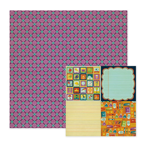 We R Memory Keepers - Show and Tell Collection - 12 x 12 Double Sided Paper - Straight A's, CLEARANCE