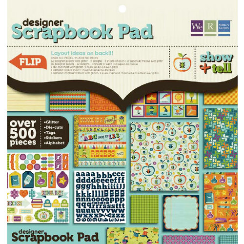 We R Memory Keepers - Show and Tell Collection - 12 x 12 Designer Scrapbook Pad, CLEARANCE