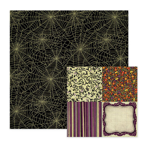 We R Memory Keepers - Heebie Jeebies Collection - Halloween - 12 x 12 Double Sided Paper - Icky, CLEARANCE