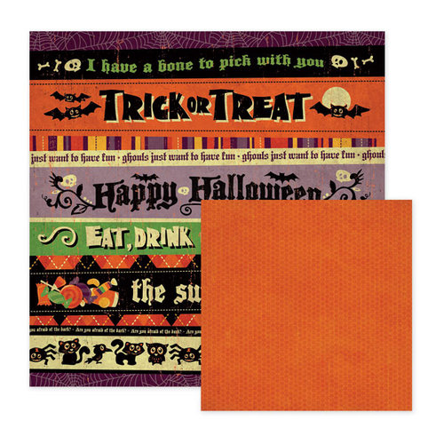 We R Memory Keepers - Heebie Jeebies Collection - Halloween - 12 x 12 Double Sided Paper - Scary, CLEARANCE
