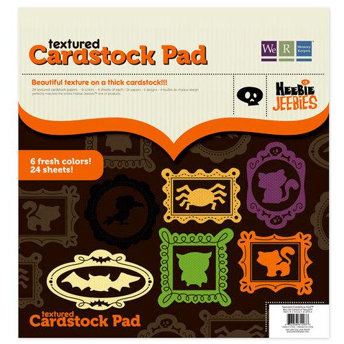 We R Memory Keepers - Heebie Jeebies Collection - Halloween - 12 x 12 Textured Cardstock Pad, CLEARANCE
