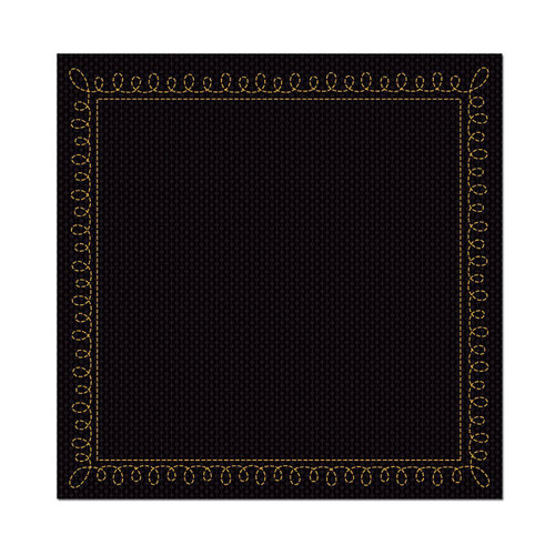 We R Memory Keepers - Heebie Jeebies Collection - Halloween - 12 x 12 Stitched Cardstock - Midnight, CLEARANCE
