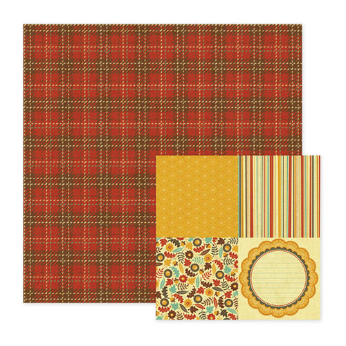 We R Memory Keepers - Maple Grove Collection - 12 x 12 Double Sided Paper - Cedar