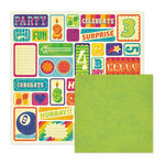We R Memory Keepers - Funfetti Collection - 12 x 12 Double Sided Paper - Party Favor, CLEARANCE
