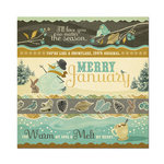 We R Memory Keepers - Merry January Collection - 12 x 12 Foiled Paper - Snow