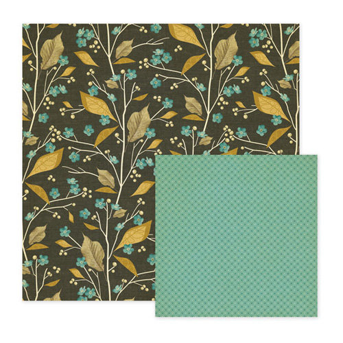 We R Memory Keepers - Merry January Collection - 12 x 12 Double Sided Paper - Branch, BRAND NEW