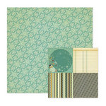 We R Memory Keepers - Merry January Collection - 12 x 12 Double Sided Paper - Flake