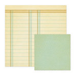 We R Memory Keepers - Merry January Collection - 12 x 12 Double Sided Paper - Slush, CLEARANCE