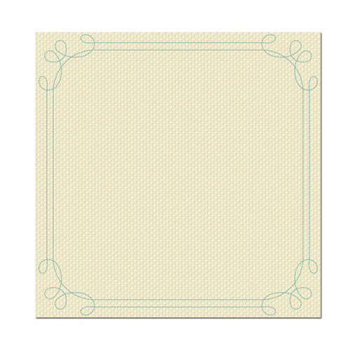 We R Memory Keepers - Merry January Collection - 12 x 12 Stitched Cardstock - January Snow