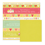 We R Memory Keepers - Be My Valentine Collection - 12 x 12 Double Sided Paper - Be Mine