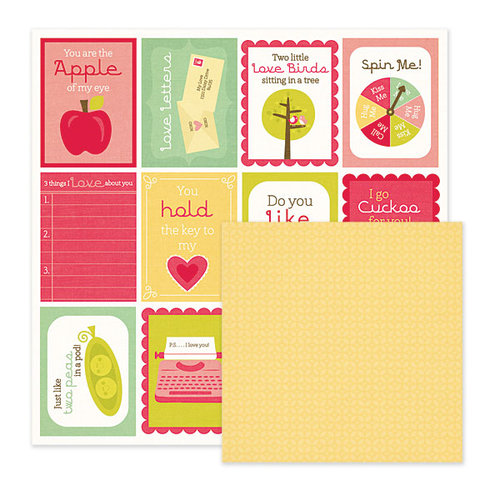 We R Memory Keepers - Be My Valentine Collection - 12 x 12 Double Sided Paper - Secret Admirer