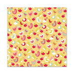 We R Memory Keepers - Be My Valentine Collection - 12 x 12 Flocked Paper - Love Birds
