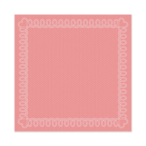 We R Memory Keepers - Be My Valentine Collection - 12 x 12 Stitched Cardstock - Sweetheart