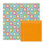We R Memory Keepers - Peep Collection - Easter - 12 x 12 Double Sided Paper - Easter Flowers, BRAND NEW