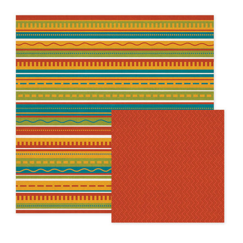 We R Memory Keepers - Fiesta Collection - 12 x 12 Double Sided Paper - Nuevo