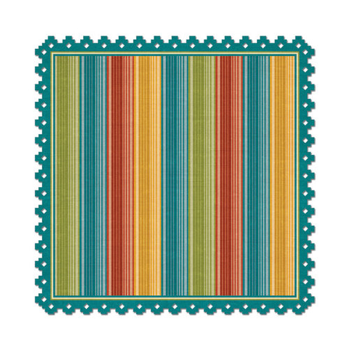 We R Memory Keepers - Fiesta Collection - 12 x 12 Die Cut Paper - Bueno