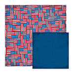 We R Memory Keepers - Yankee Doodles Collection - 12 x 12 Double Sided Paper - Flag Doodle