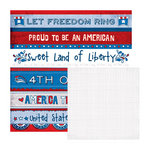 We R Memory Keepers - Yankee Doodles Collection - 12 x 12 Double Sided Paper - 4th of July Doodle