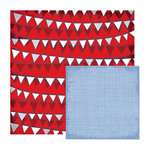 We R Memory Keepers - Yankee Doodles Collection - 12 x 12 Double Sided Paper - Pennant Doodle