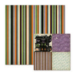 We R Memory Keepers - Spookville Collection - Halloween - 12 x 12 Double Sided Paper - Lanky Lines