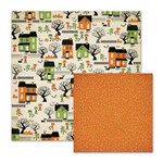 We R Memory Keepers - Spookville Collection - Halloween - 12 x 12 Double Sided Paper - Trick or Treat