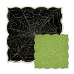 We R Memory Keepers - Spookville Collection - Halloween - 12 x 12 Die Cut Paper - Wicked Web