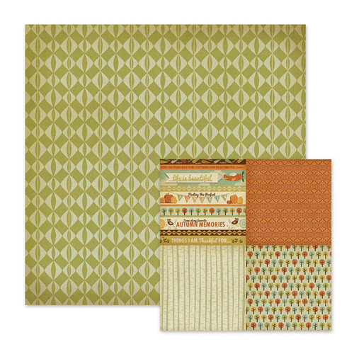 We R Memory Keepers - Autumn Splendor Collection - 12 x 12 Double Sided Paper - Hazel