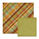 We R Memory Keepers - Autumn Splendor Collection - 12 x 12 Double Sided Paper - Tawny