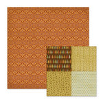 We R Memory Keepers - Autumn Splendor Collection - 12 x 12 Double Sided Paper - Amber