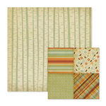 We R Memory Keepers - Autumn Splendor Collection - 12 x 12 Double Sided Paper - Birch