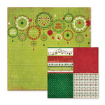 We R Memory Keepers - Peppermint Twist Collection - Christmas - 12 x 12 Double Sided Paper - Ornamental