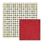 We R Memory Keepers - Peppermint Twist Collection - Christmas - 12 x 12 Double Sided Paper - Jubilee