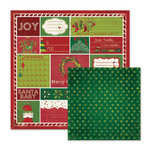 We R Memory Keepers - Peppermint Twist Collection - Christmas - 12 x 12 Double Sided Paper - Glad Tidings