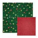 We R Memory Keepers - Peppermint Twist Collection - Christmas - 12 x 12 Double Sided Paper - Winter Berry