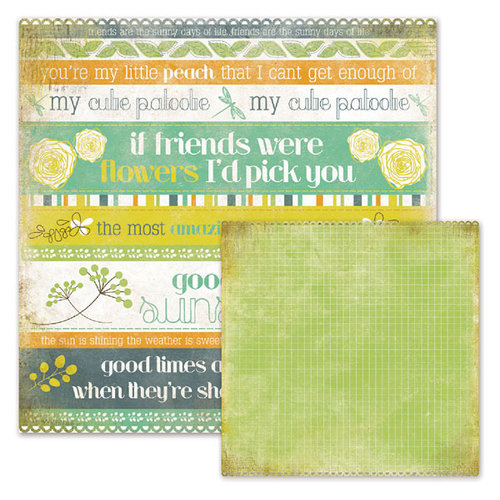 We R Memory Keepers - Good Day Sunshine Collection - 12 x 12 Double Sided Die Cut Paper - Lynn