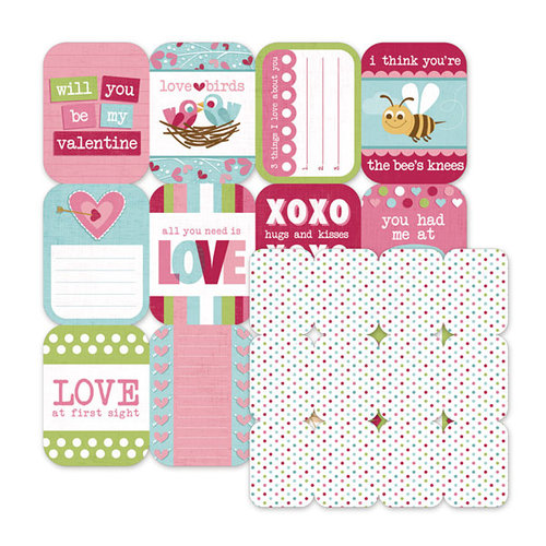 We R Memory Keepers - Love Struck Collection - 12 x 12 Double Sided Die Cut Paper - Cupid
