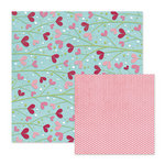 We R Memory Keepers - Love Struck Collection - 12 x 12 Double Sided Paper - Love Blossoms