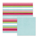 We R Memory Keepers - Love Struck Collection - 12 x 12 Double Sided Paper - Love Lines