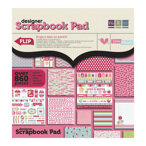 We R Memory Keepers - Love Struck Collection - 12 x 12 Designer Scrapbook Pad