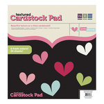 We R Memory Keepers - Love Struck Collection - 12 x 12 Textured Cardstock Pad