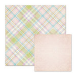 We R Memory Keepers - Cotton Tail Collection - 12 x 12 Double Sided Paper - Color Me Plaid