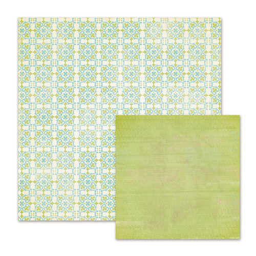 We R Memory Keepers - Cotton Tail Collection - 12 x 12 Double Sided Paper - Seedling