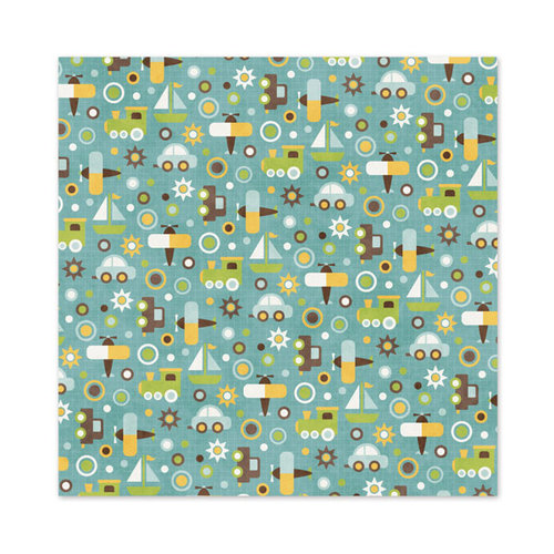 We R Memory Keepers - Baby Mine Collection - 12 x 12 Paper with Varnish Accents - Boy Oh Boy
