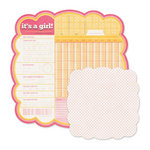 We R Memory Keepers - Baby Mine Collection - 12 x 12 Double Sided Die Cut Paper - It's a Girl