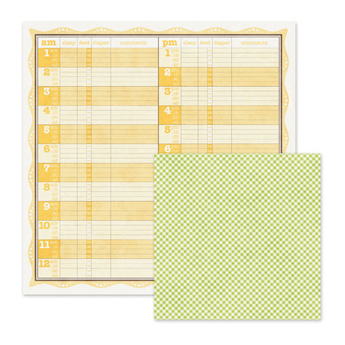 We R Memory Keepers - Baby Mine Collection - 12 x 12 Double Sided Paper - Feeding Time