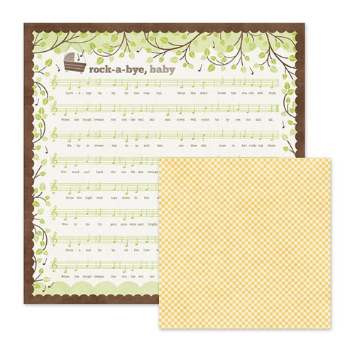 We R Memory Keepers - Baby Mine Collection - 12 x 12 Double Sided Paper - Rock-A-Bye