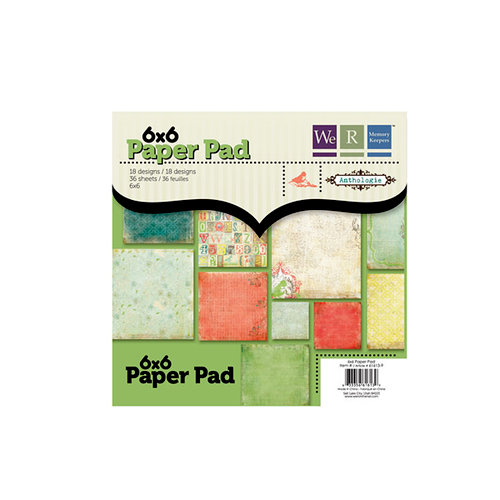 Anthologie Collection - 6 x 6 Paper Pad by We R Memory Keepers by We R Memory Keepers