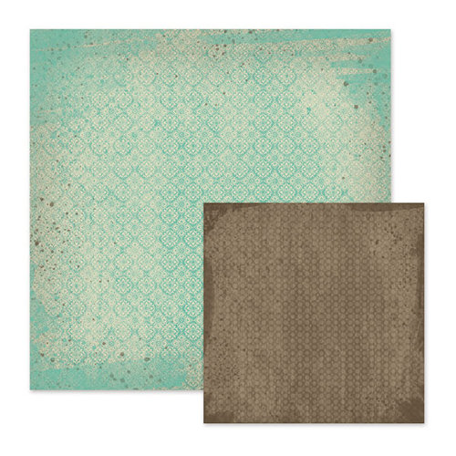 We R Memory Keepers - Down the Boardwalk Collection - 12 x 12 Double Sided Paper - Salt Water