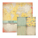 We R Memory Keepers - Down the Boardwalk Collection - 12 x 12 Double Sided Paper - Coastlines